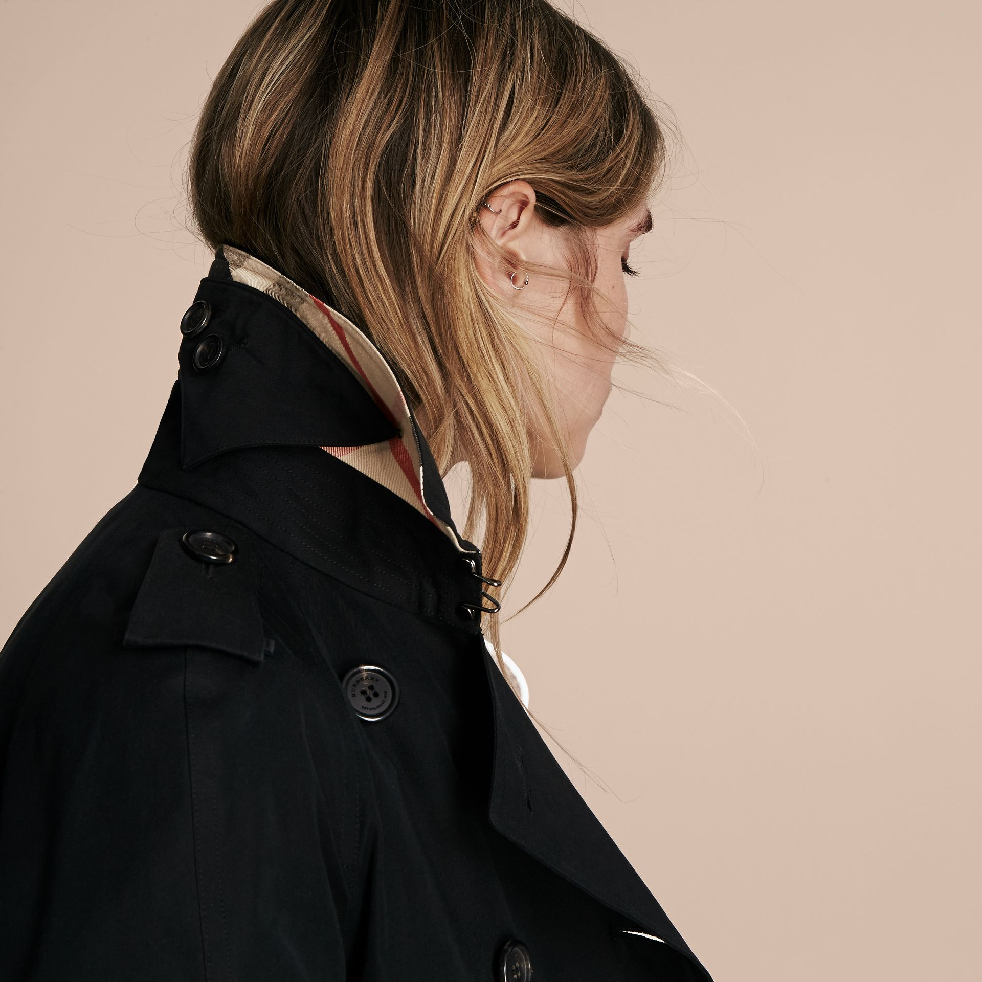 Black The Westminster - Long Heritage Trench Coat - gallery image 7