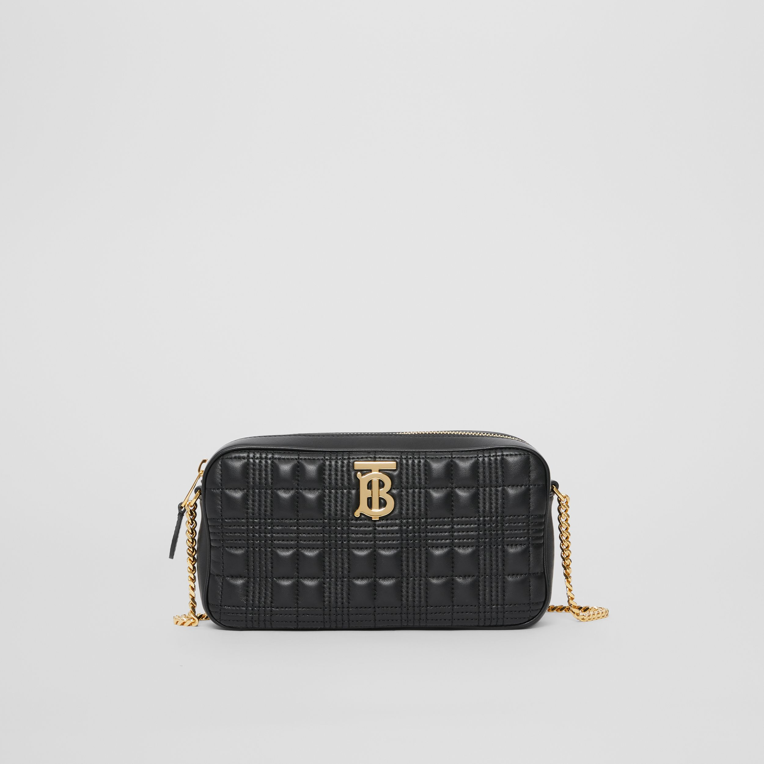 Quilted Lambskin Camera Bag in Black - Women | Burberry - 1
