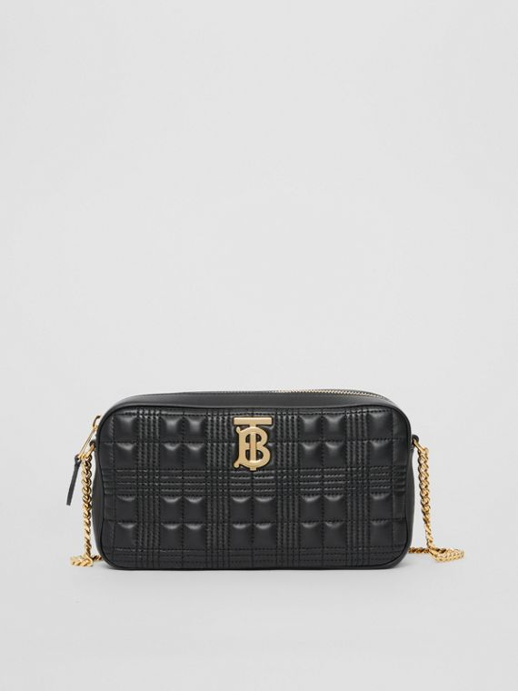 Quilted Lambskin Camera Bag in Black