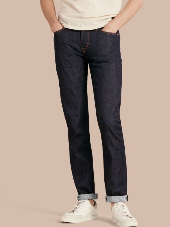 Jean stretch selvedge japonais de coupe slim