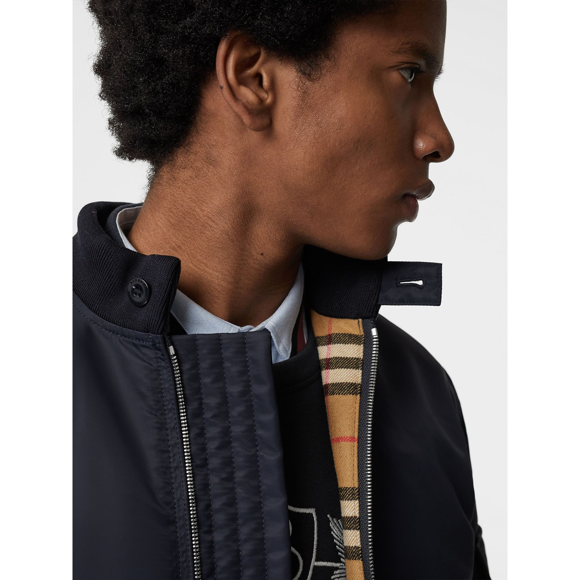 Padded Nylon Bomber Jacket in Navy - Men | Burberry Canada - gallery image 1