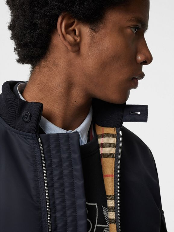Padded Nylon Bomber Jacket in Navy - Men | Burberry - cell image 1