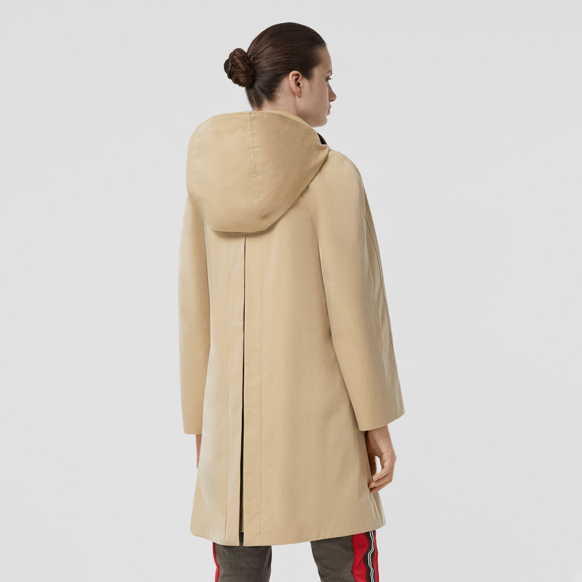 Detachable Hood Tropical Gabardine Swing Coat in Honey - Women | Burberry - gallery image 2