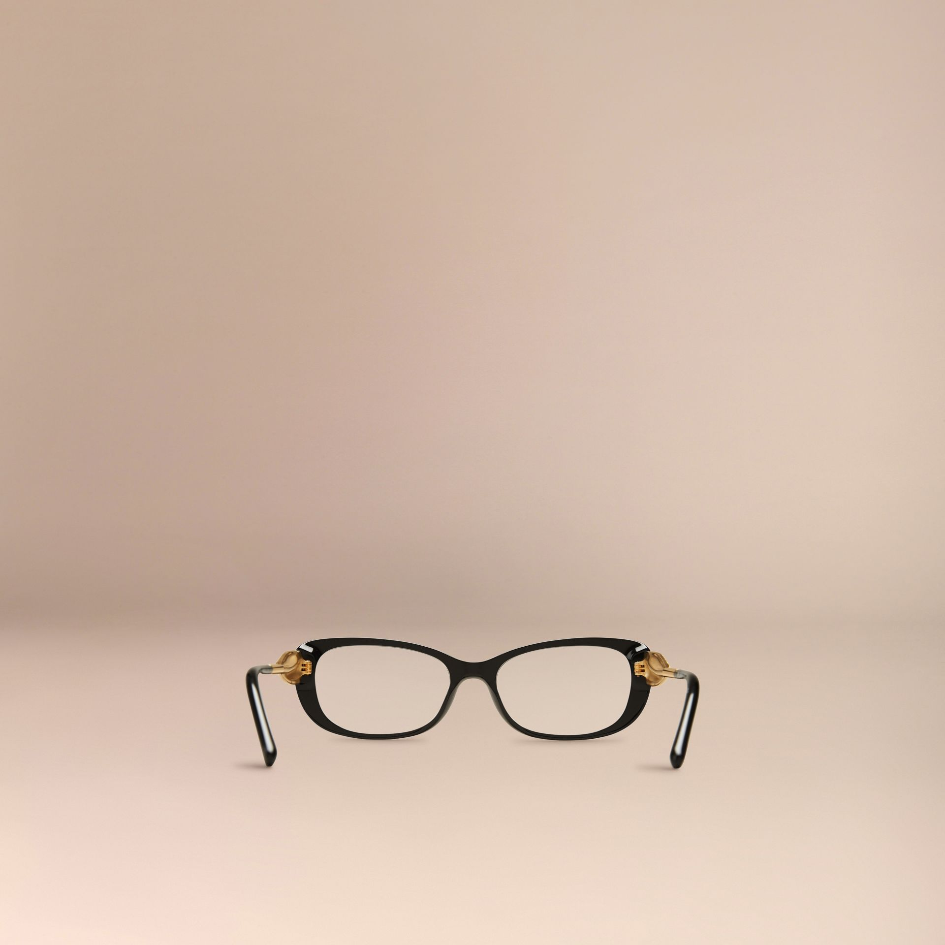 Black Gabardine Collection Oval Optical Frames Black - gallery image 3