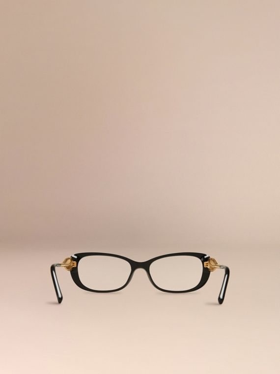 Gabardine Collection Oval Optical Frames in Black - cell image 2