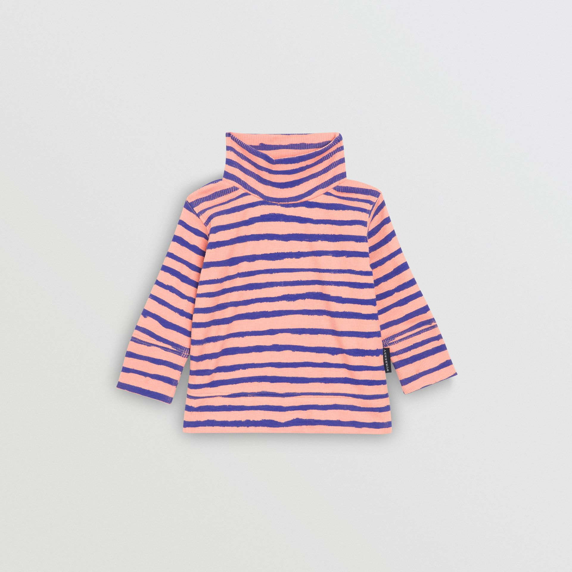 Sweat-shirt rayé en coton côtelé (Rose Cendré) - Enfant | Burberry Canada - photo de la galerie 2