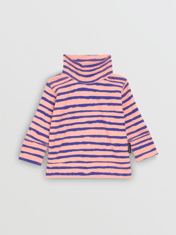 Sweat-shirt rayé en coton côtelé (Rose Cendré) - Enfant | Burberry Canada - cell image 2