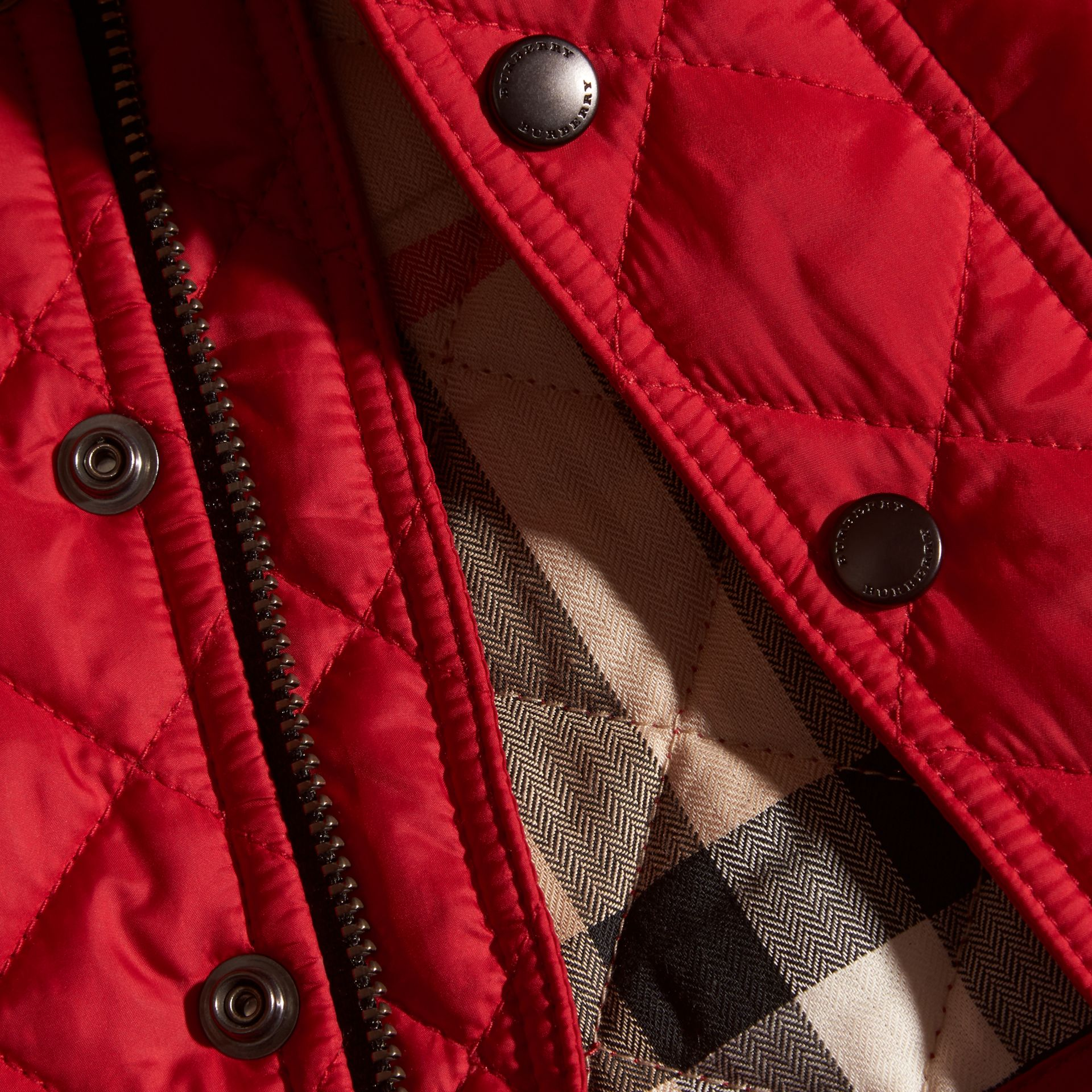 Lightweight Quilted Jacket in Bright Cherry Red - gallery image 2