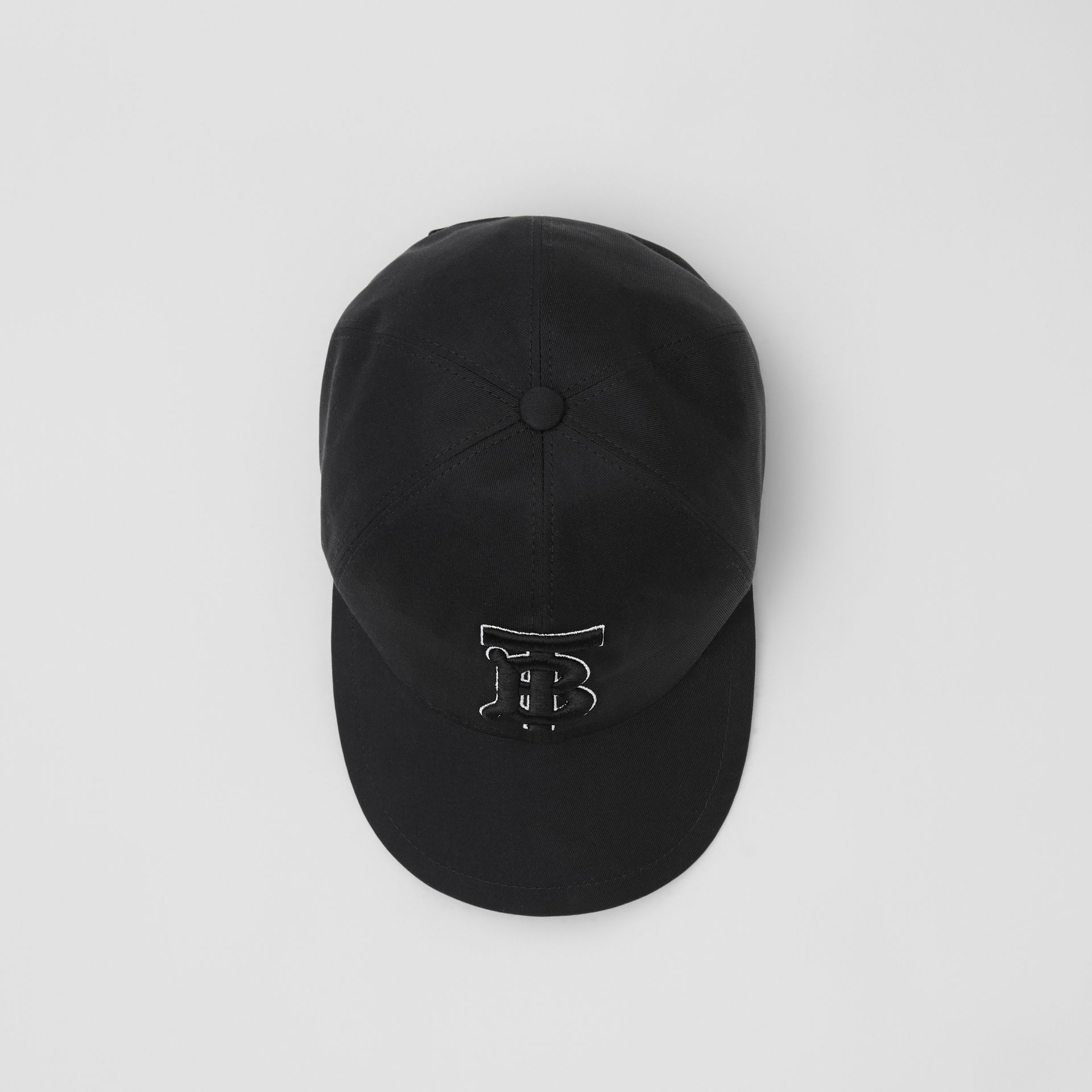 Monogram Motif Baseball Cap in Black / Black | Burberry - gallery image 0