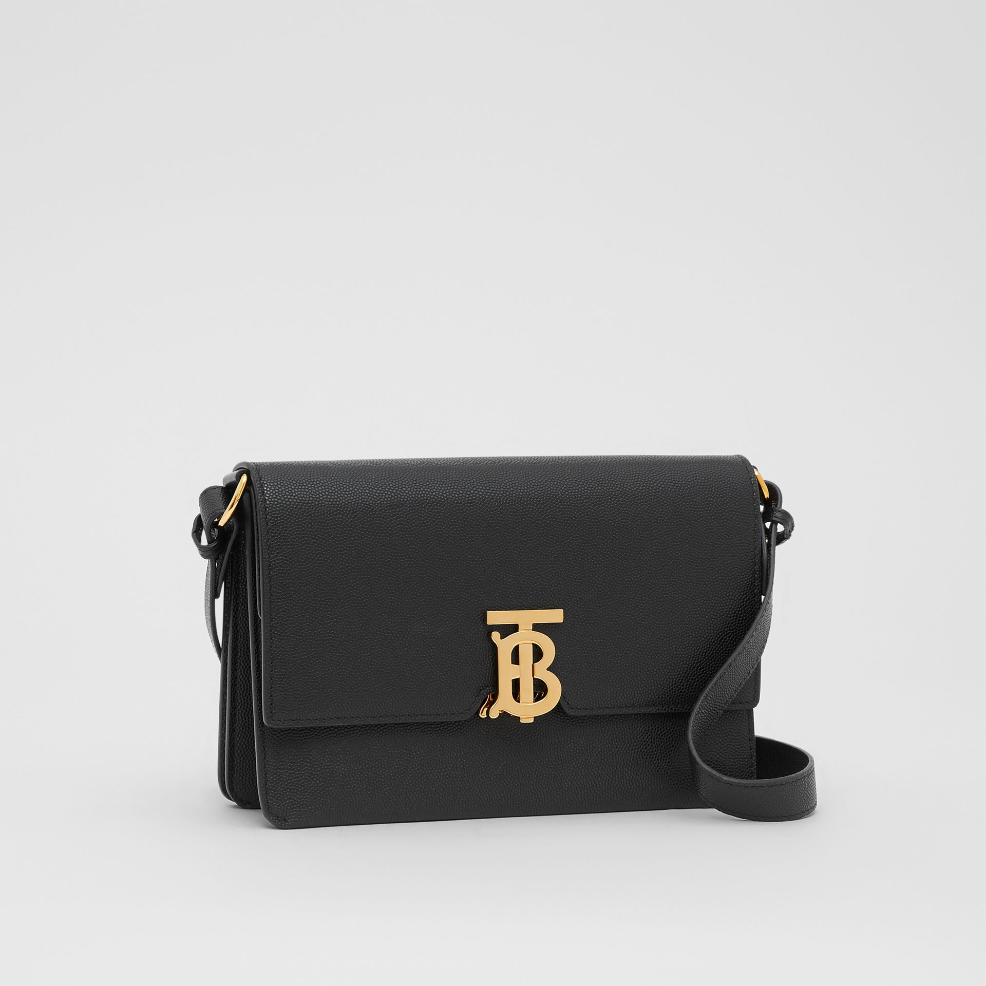 Small Monogram Motif Leather Crossbody Bag in Black - Women | Burberry - gallery image 6