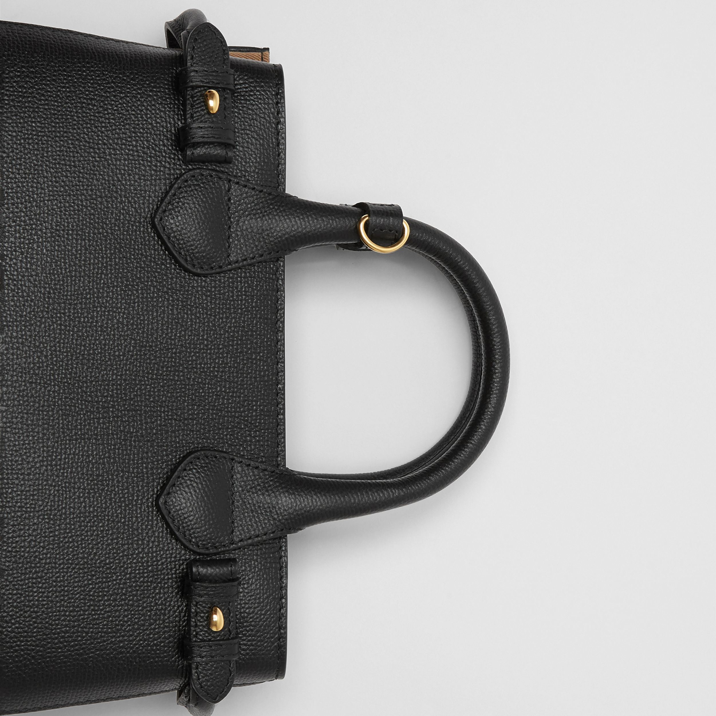 The Small Banner in Leather and House Check in Black - Women | Burberry - 2