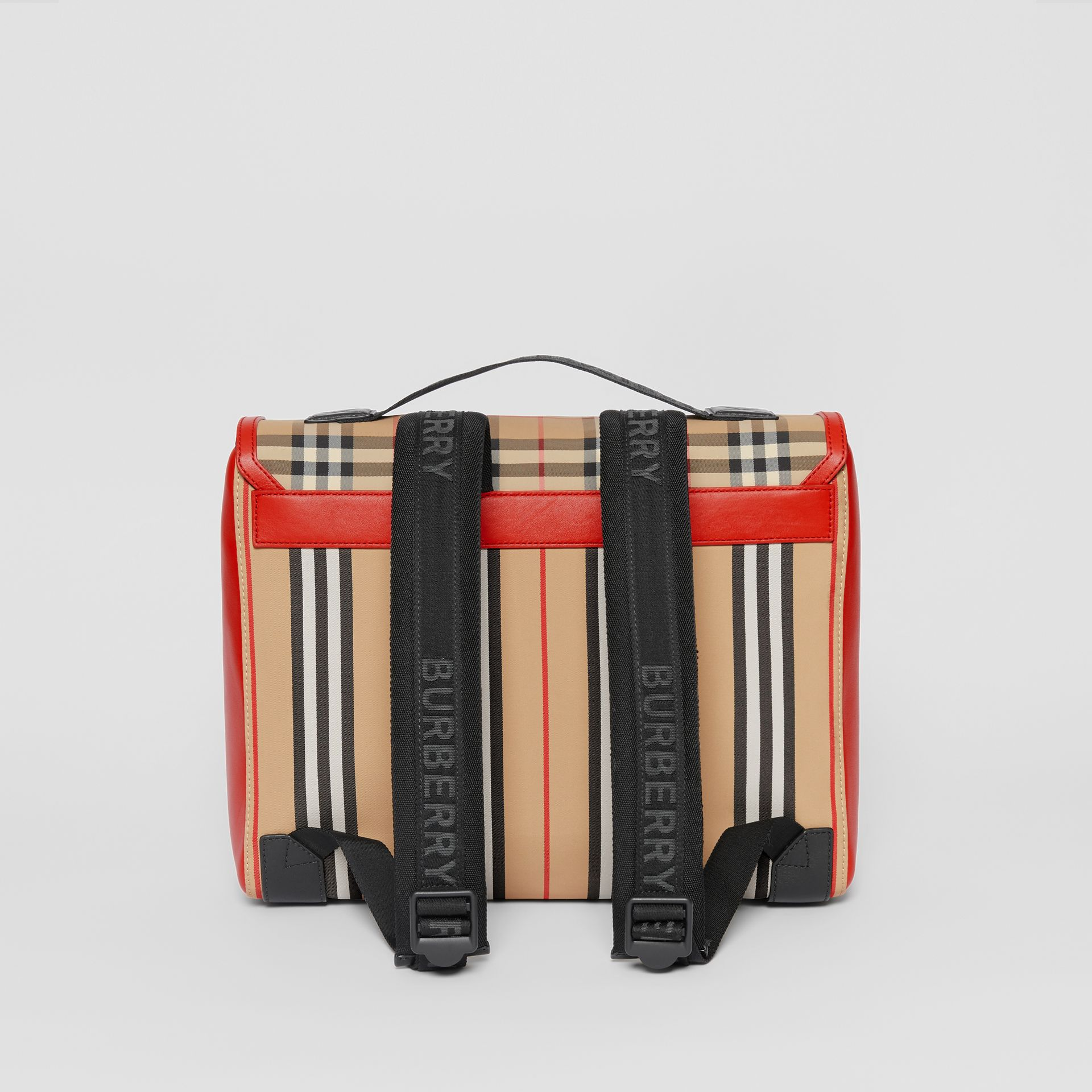 Vintage Check and Icon Stripe Nylon Backpack in Bright Military Red - Children | Burberry - gallery image 5