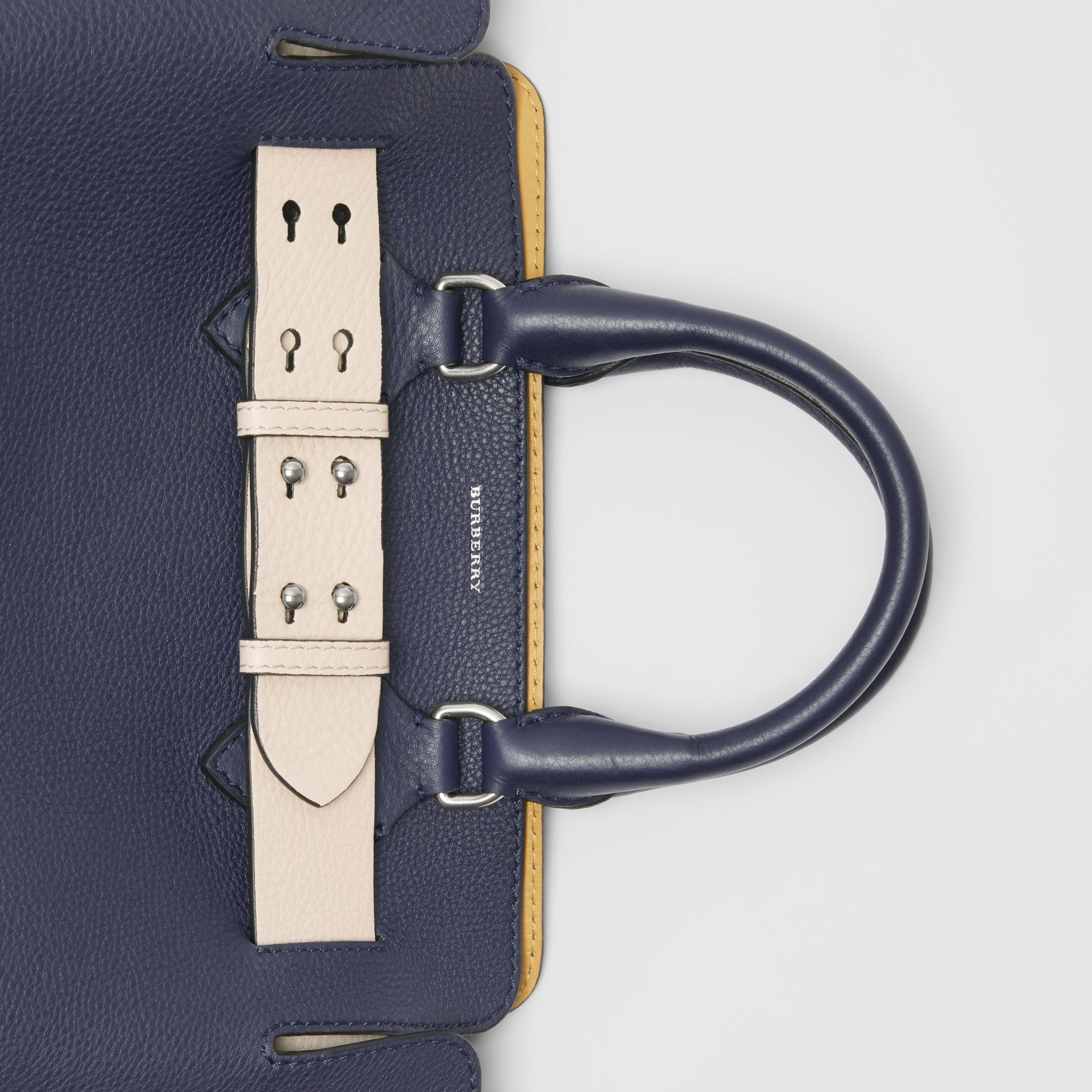The Small Leather Belt Bag in Regency Blue - Women | Burberry - gallery image 1