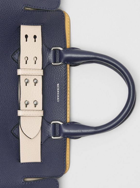 The Small Leather Belt Bag in Regency Blue - Women | Burberry United States - cell image 1