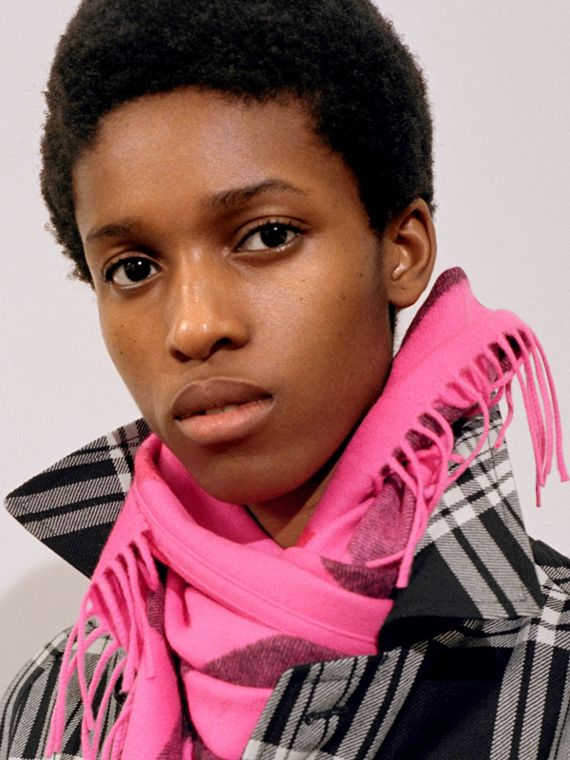 The Burberry Bandana in Check Cashmere