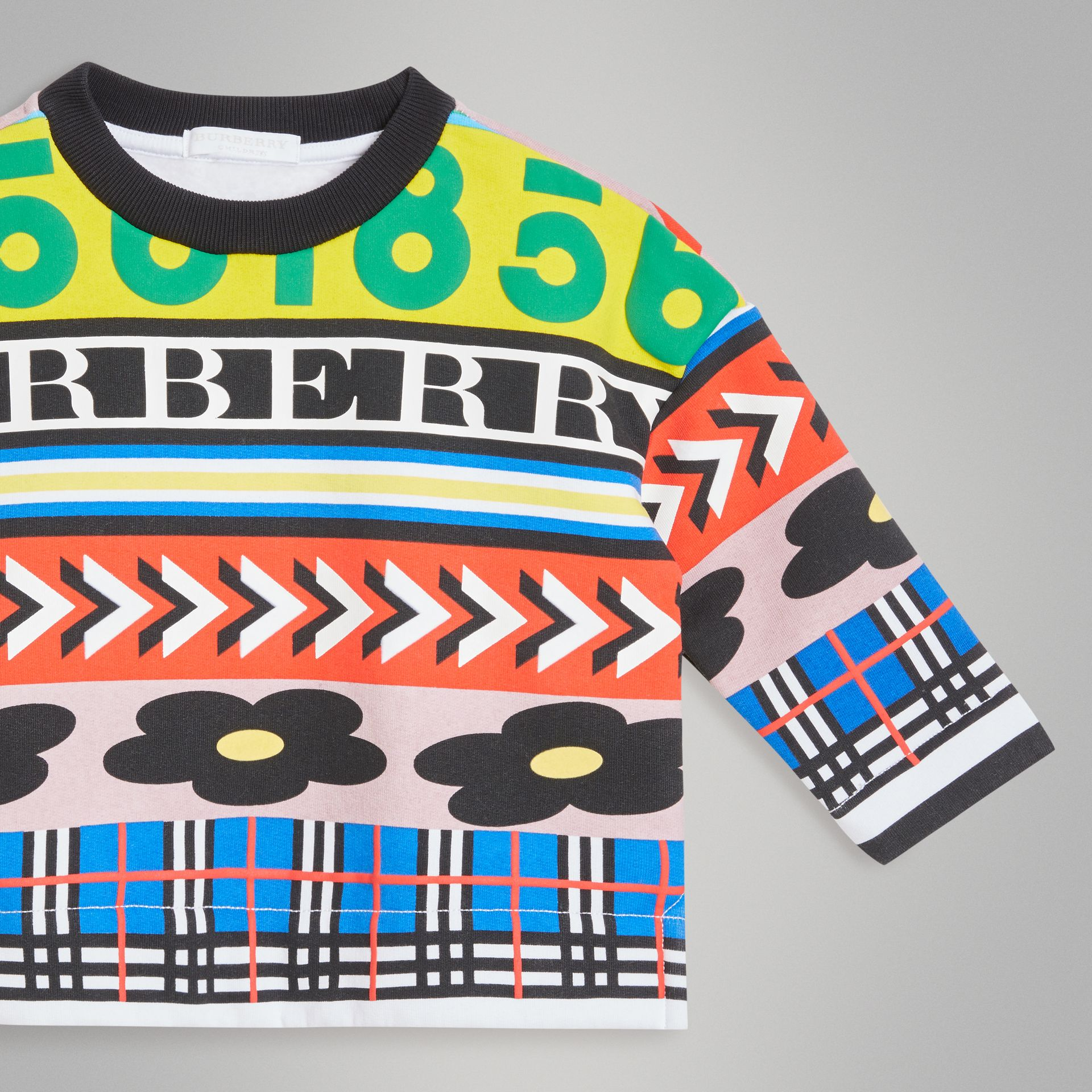 Sweat-shirt en jersey à imprimé graphique (Multicolore) | Burberry - photo de la galerie 4