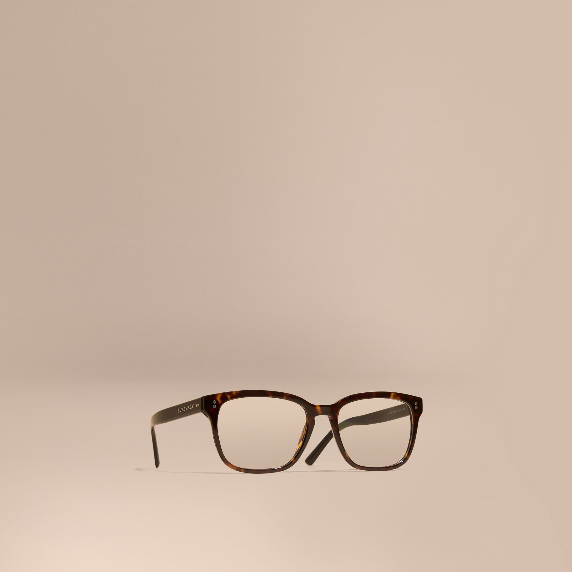 Square Optical Frames Light Russet Brown - gallery image 1