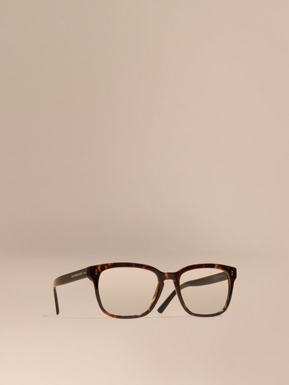 Square Optical Frames Light Russet Brown