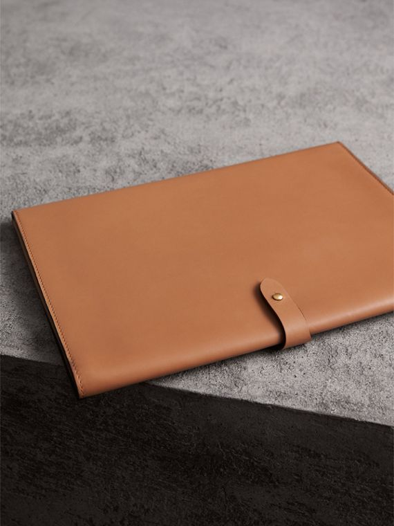 Equestrian Shield Two-tone Leather A4 Document Case in Camel - Men | Burberry Australia - cell image 2