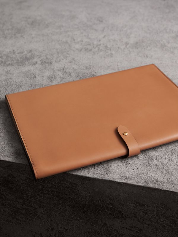 Equestrian Shield Two-tone Leather A4 Document Case in Camel | Burberry - cell image 2