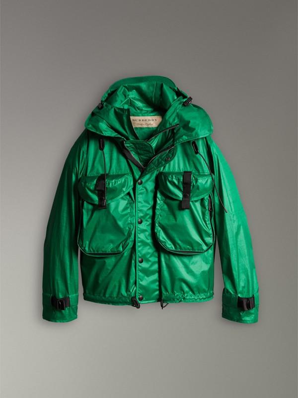 Jaqueta resistente à água com capuz dobrável e colete (Verde Vibrante) - Homens | Burberry - cell image 3