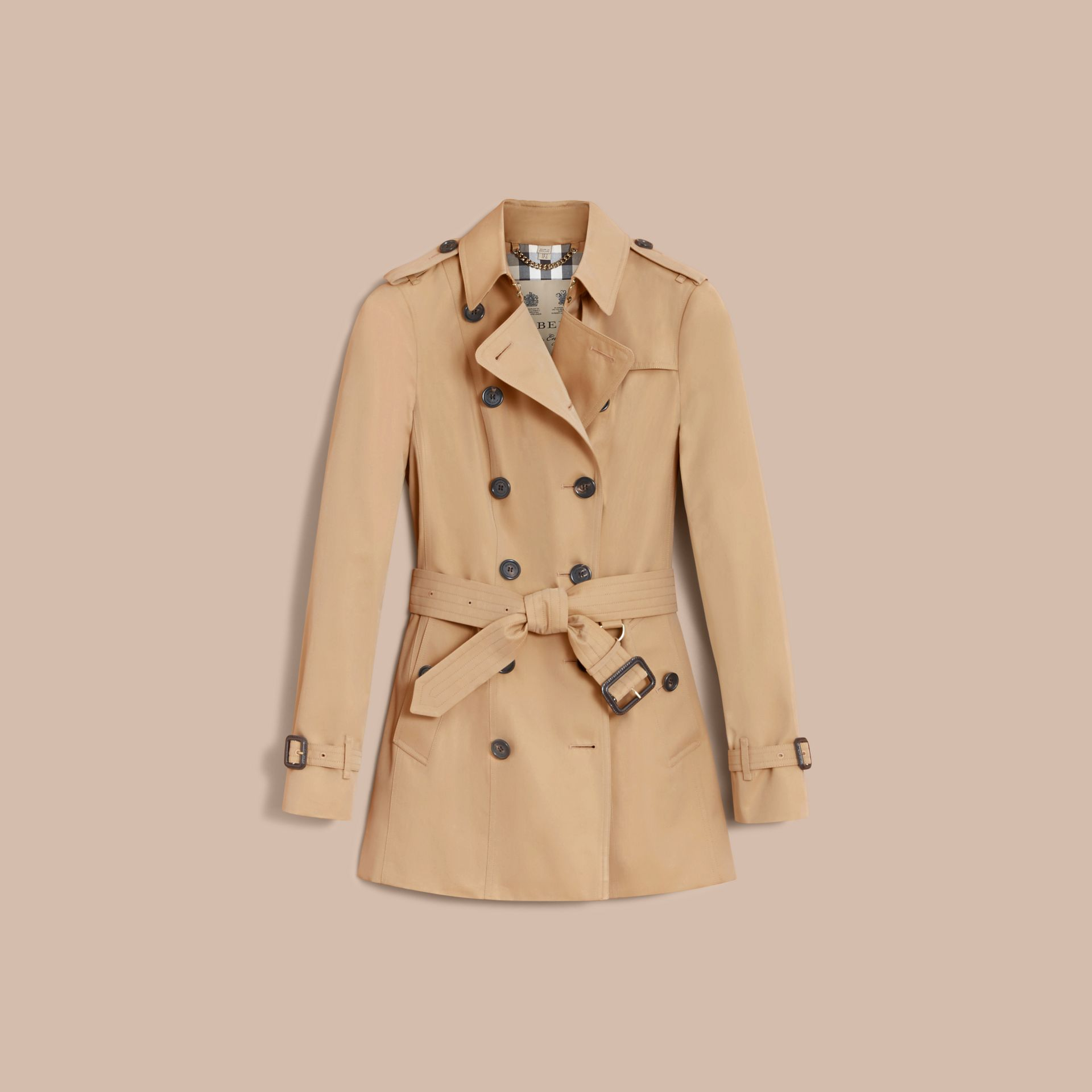 The Sandringham – Short Heritage Trench Coat Honey - gallery image 4