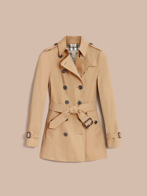 The Sandringham – Short Heritage Trench Coat in Honey - Women | Burberry - cell image 3