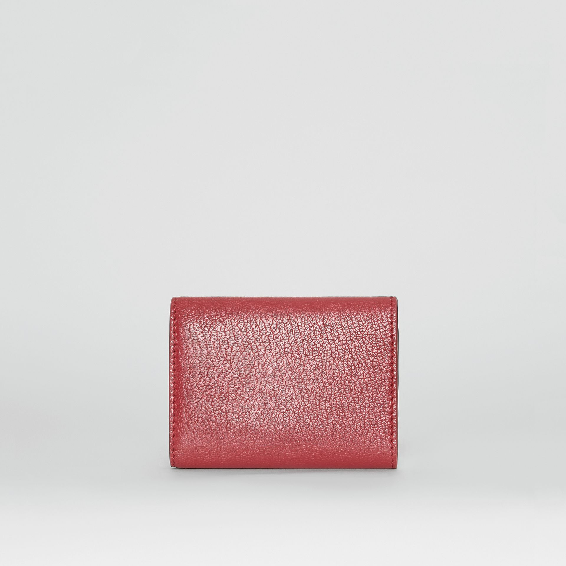 Small D-ring Leather Wallet in Crimson - Women | Burberry - gallery image 4