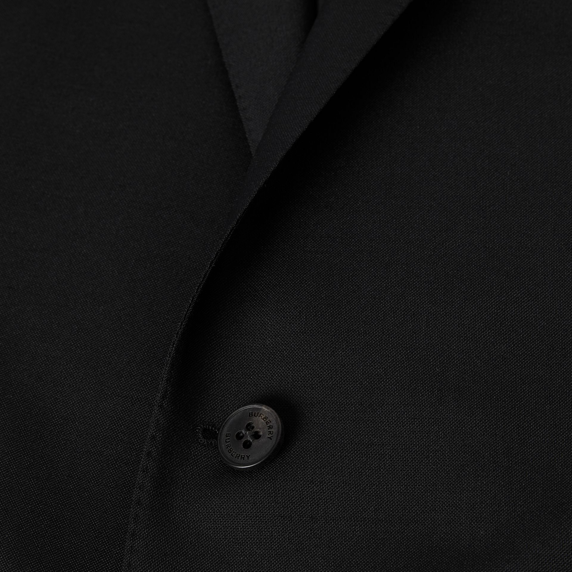 Slim Fit Wool Mohair Suit in Black - Men | Burberry Hong Kong S.A.R - gallery image 8