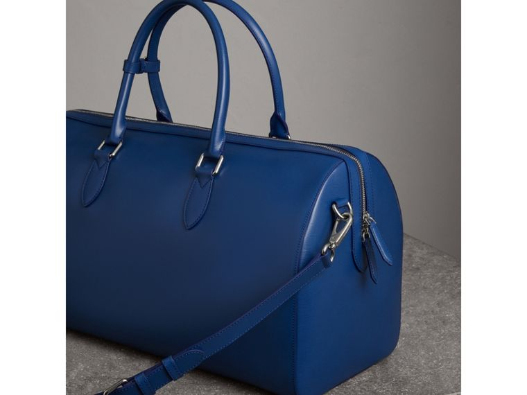 London Leather Holdall in Deep Blue - Men | Burberry - cell image 4