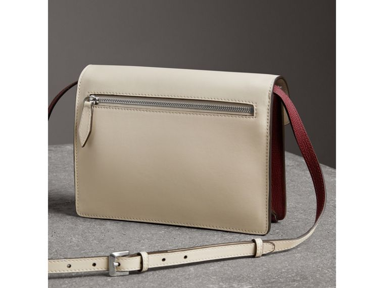 Two-tone Leather Crossbody Bag in Mahogany Red/limestone - Women | Burberry - cell image 4