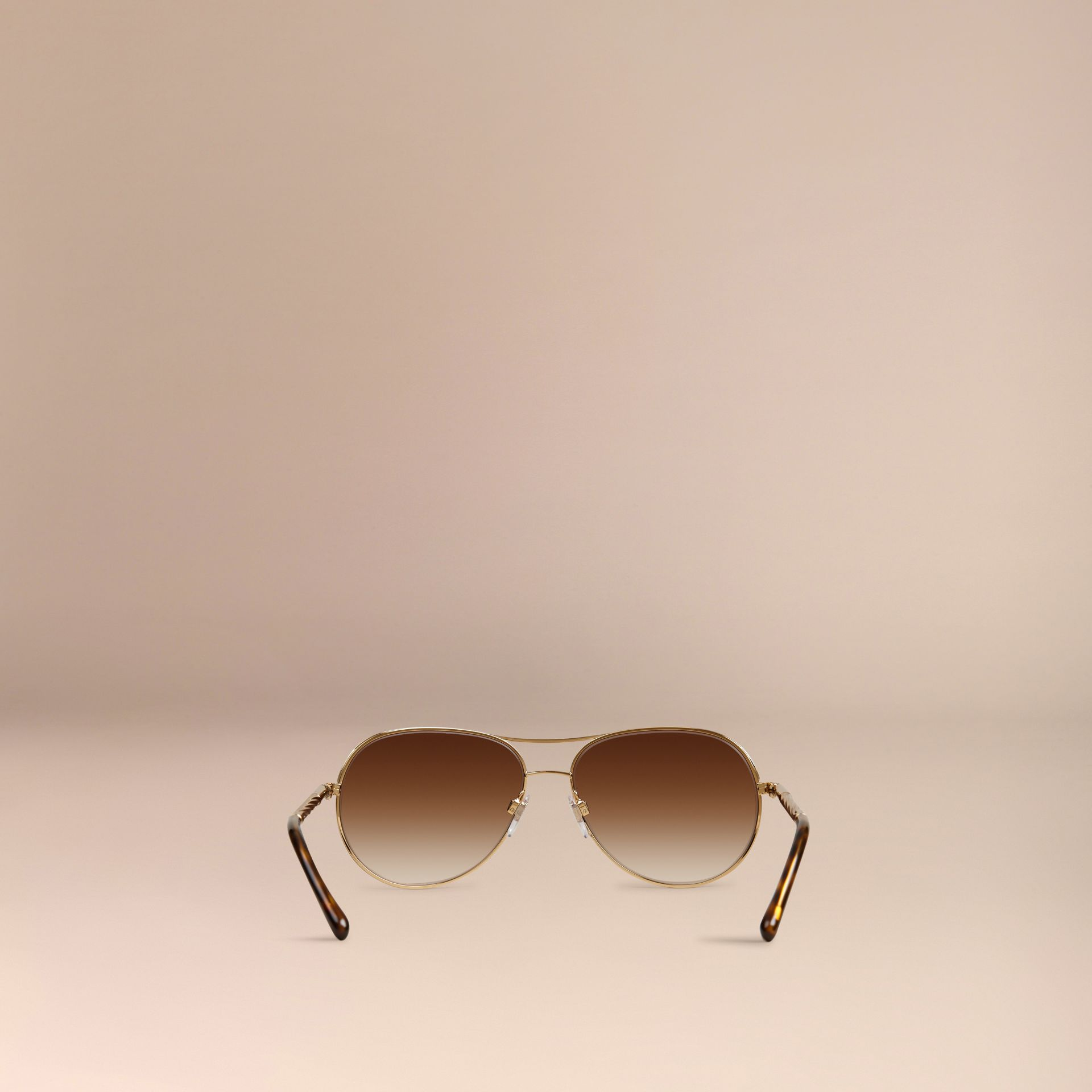 Or Lunettes de soleil Aviator – Collection Gabardine  - photo de la galerie 4