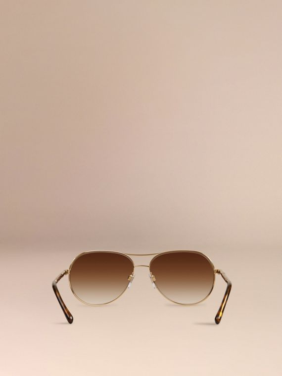 Or Lunettes de soleil Aviator – Collection Gabardine  - cell image 3