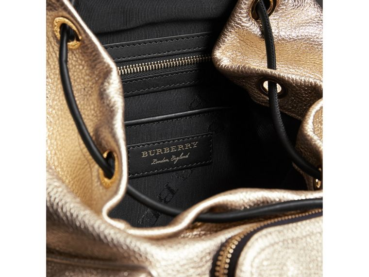 The Medium Rucksack in Metallic Deerskin in Nude Gold - Women | Burberry - cell image 4