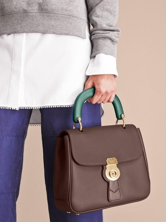 The Medium DK88 Top Handle Bag Dark Chocolate - cell image 3