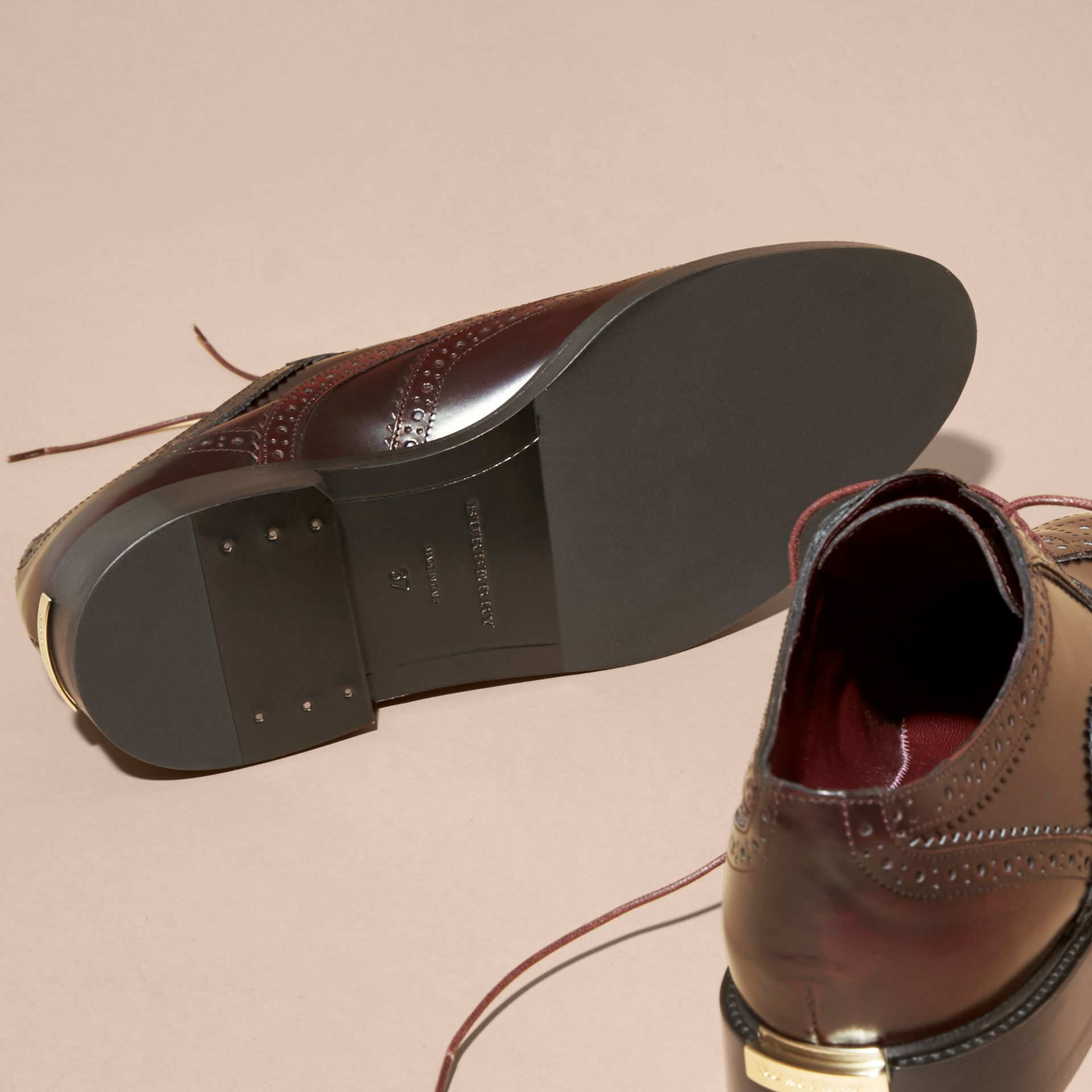 Bordeaux Leather Wingtip Brogues - gallery image 5