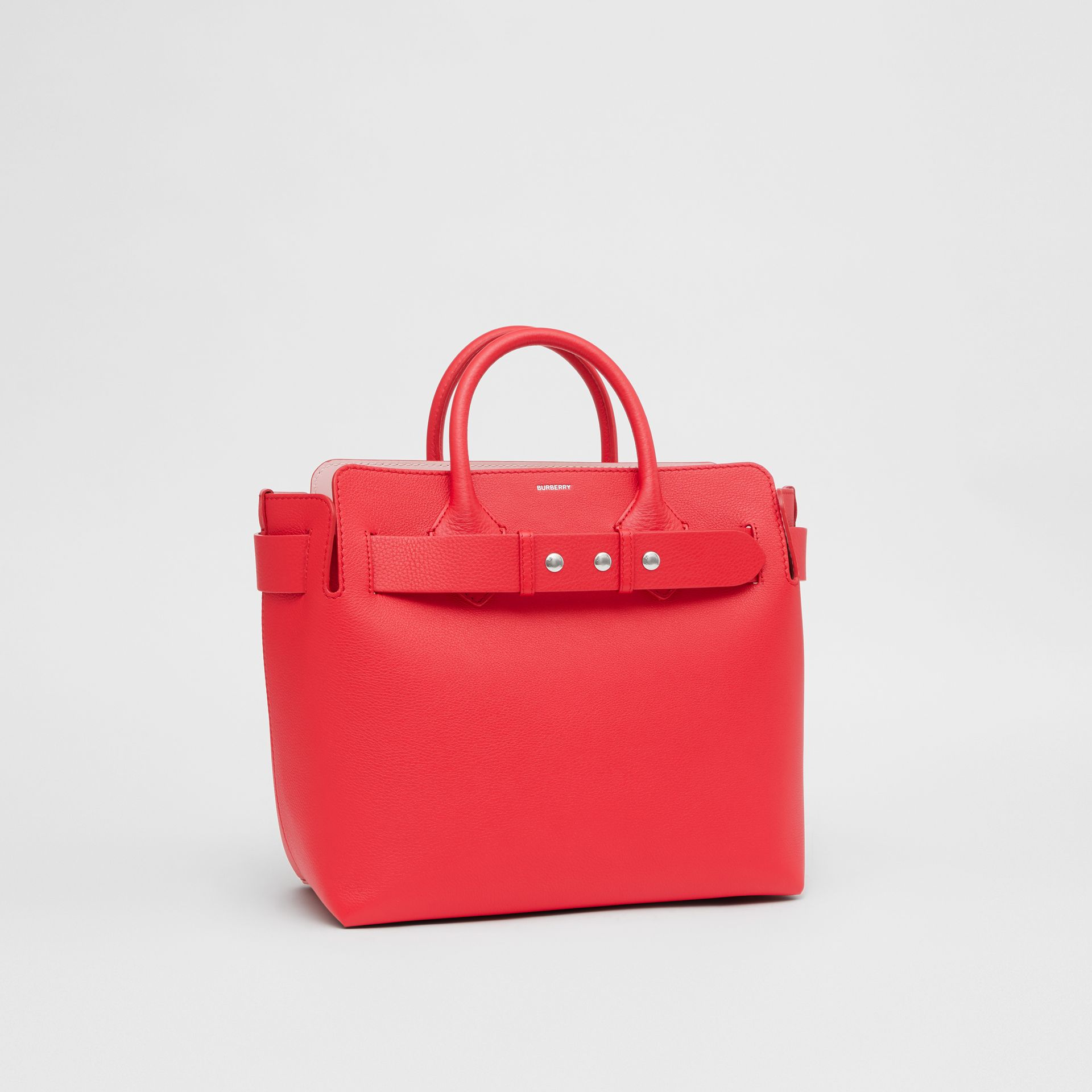 The Medium Leather Triple Stud Belt Bag in Bright Red/alabaster Pink - Women | Burberry - gallery image 5
