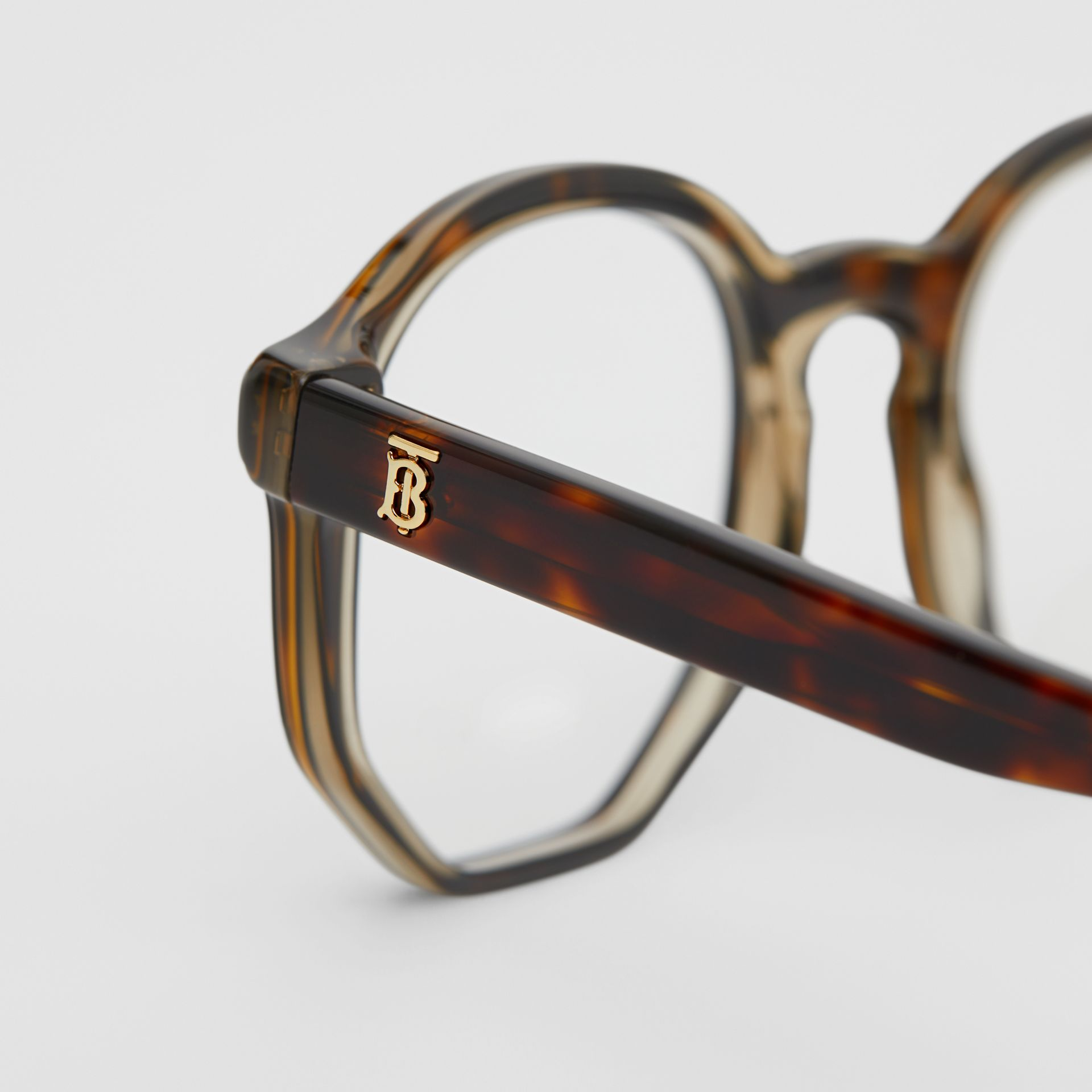 Geometric Optical Frames in Tortoiseshell - Women | Burberry - gallery image 1