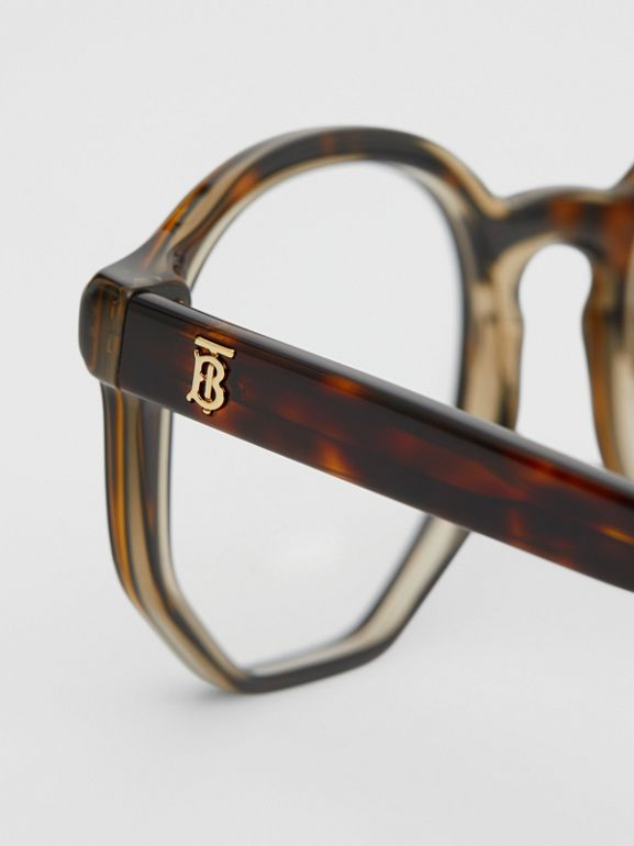 Geometric Optical Frames in Tortoiseshell - Women | Burberry - cell image 1