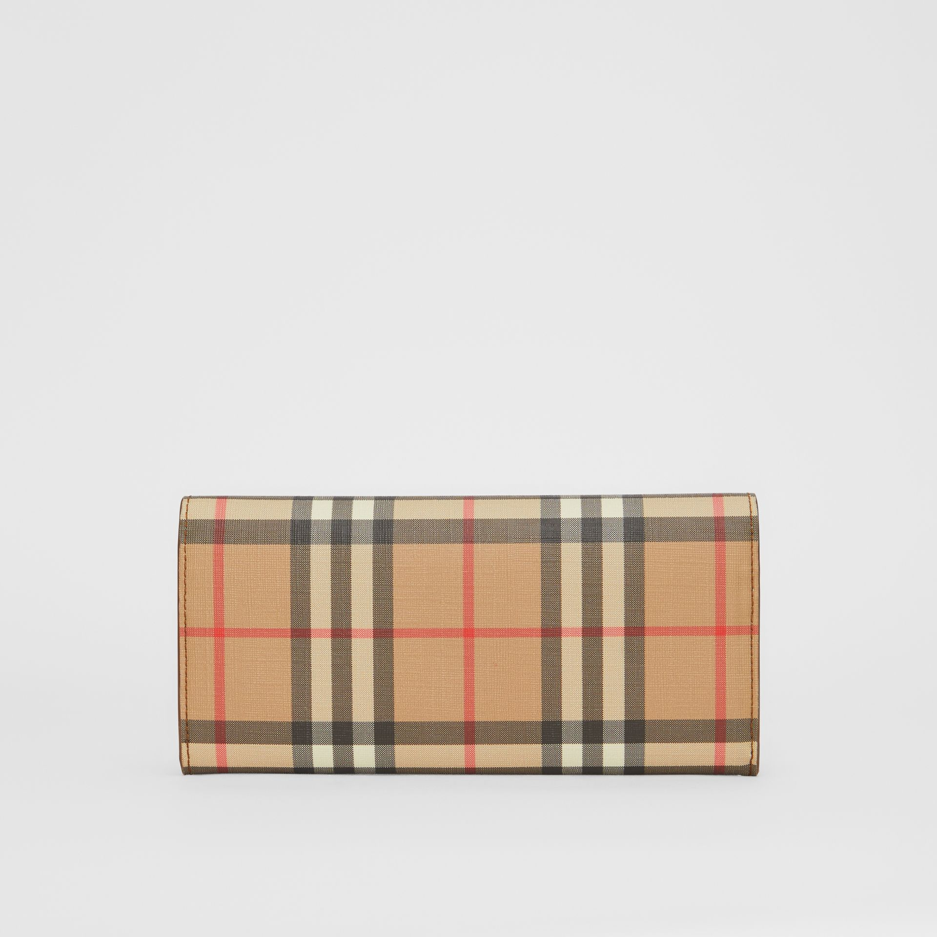 Vintage Check and Leather Continental Wallet in Malt Brown - Women | Burberry - gallery image 5