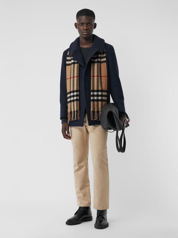 The Classic Check Cashmere Scarf in Camel | Burberry - cell image 3