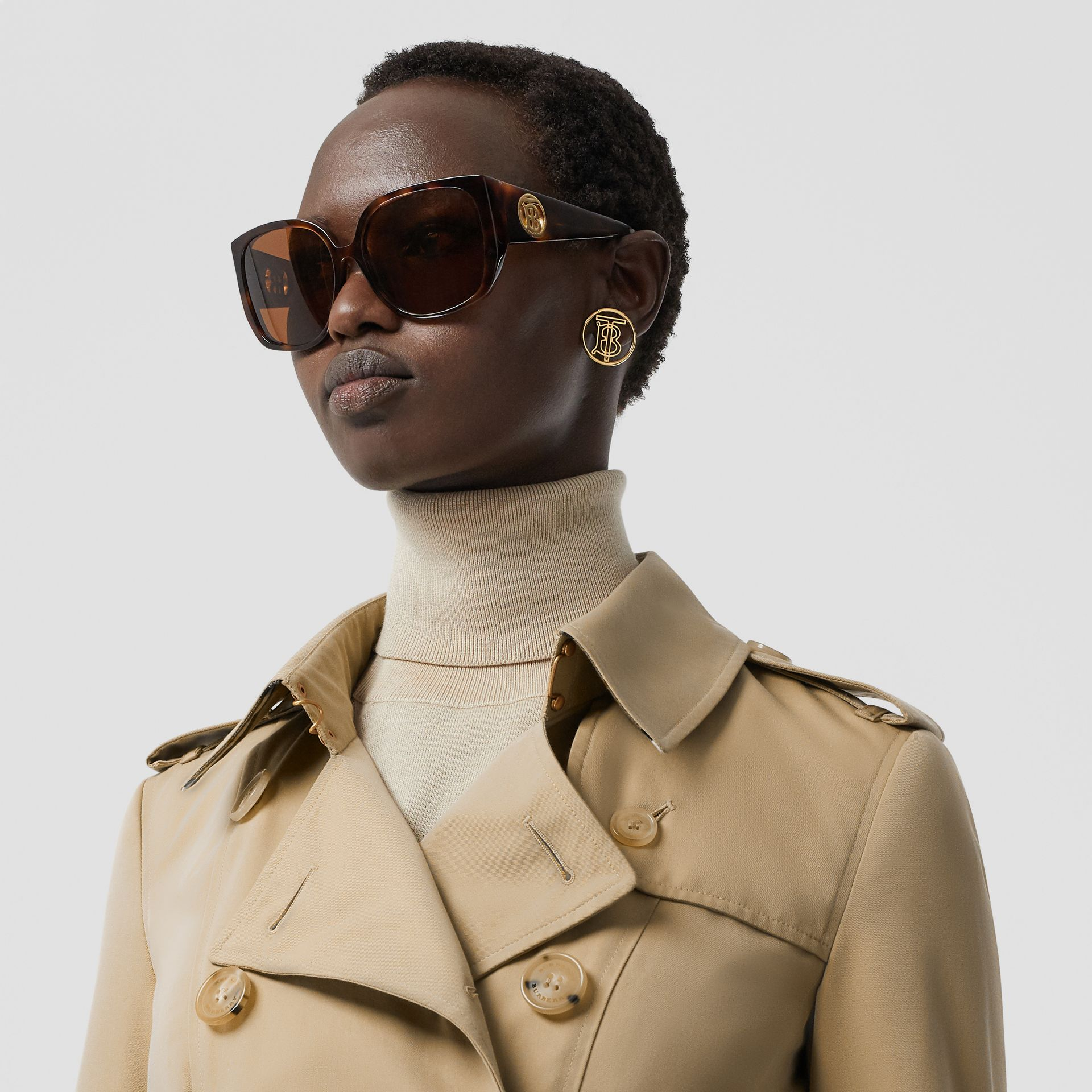 Trench Heritage The Chelsea (Miel) - Femme | Burberry - photo de la galerie 1