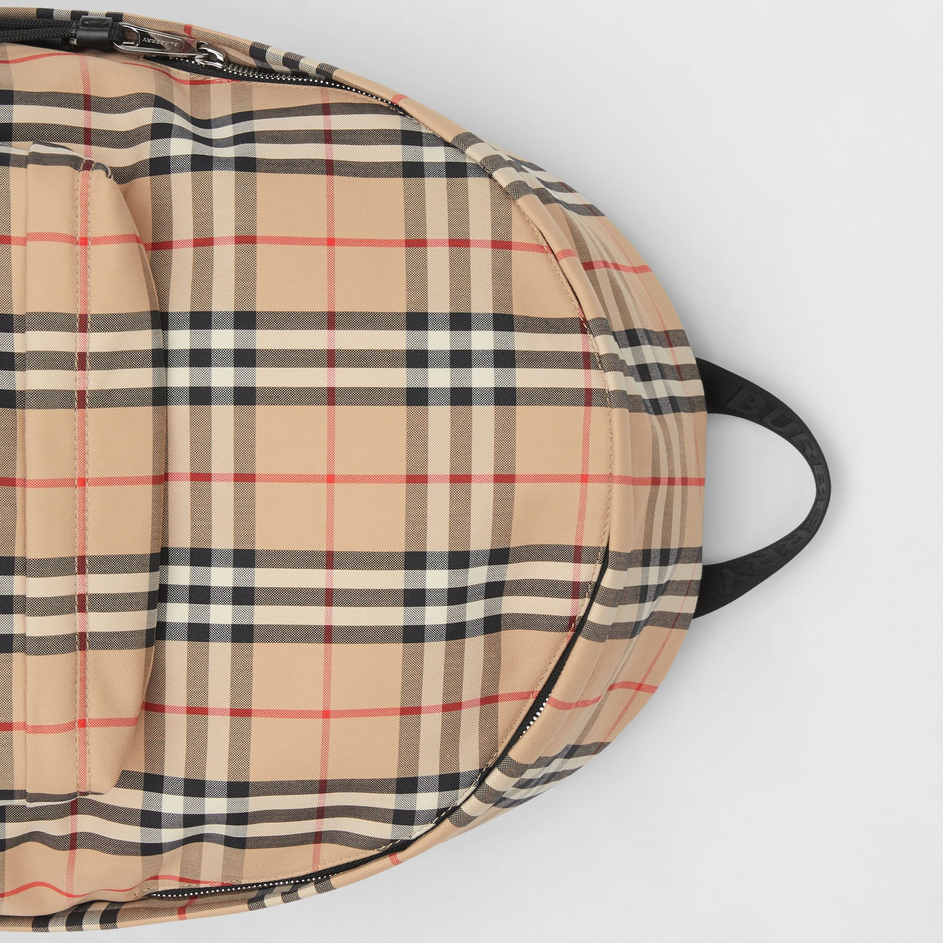 Vintage Check Nylon Backpack in Archive Beige | Burberry Australia - gallery image 1
