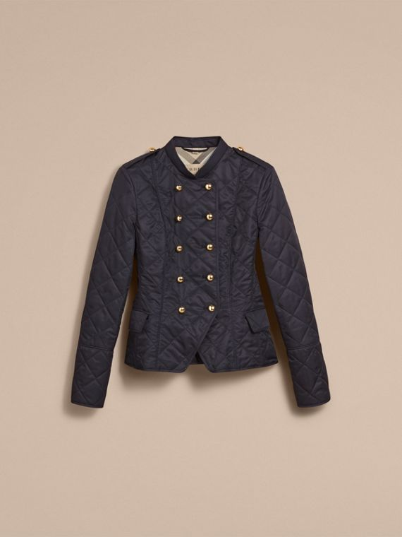 Double-breasted Quilted Military Jacket Navy - cell image 3