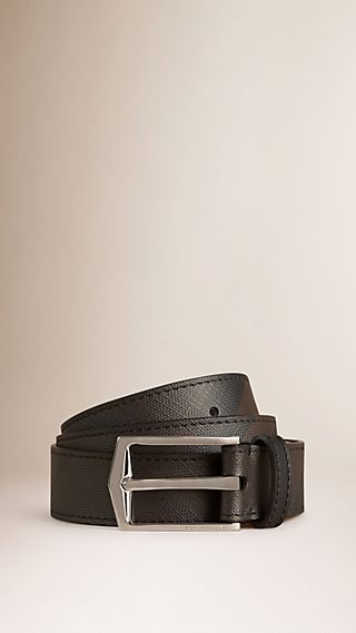 Smoked Check and Leather Belt