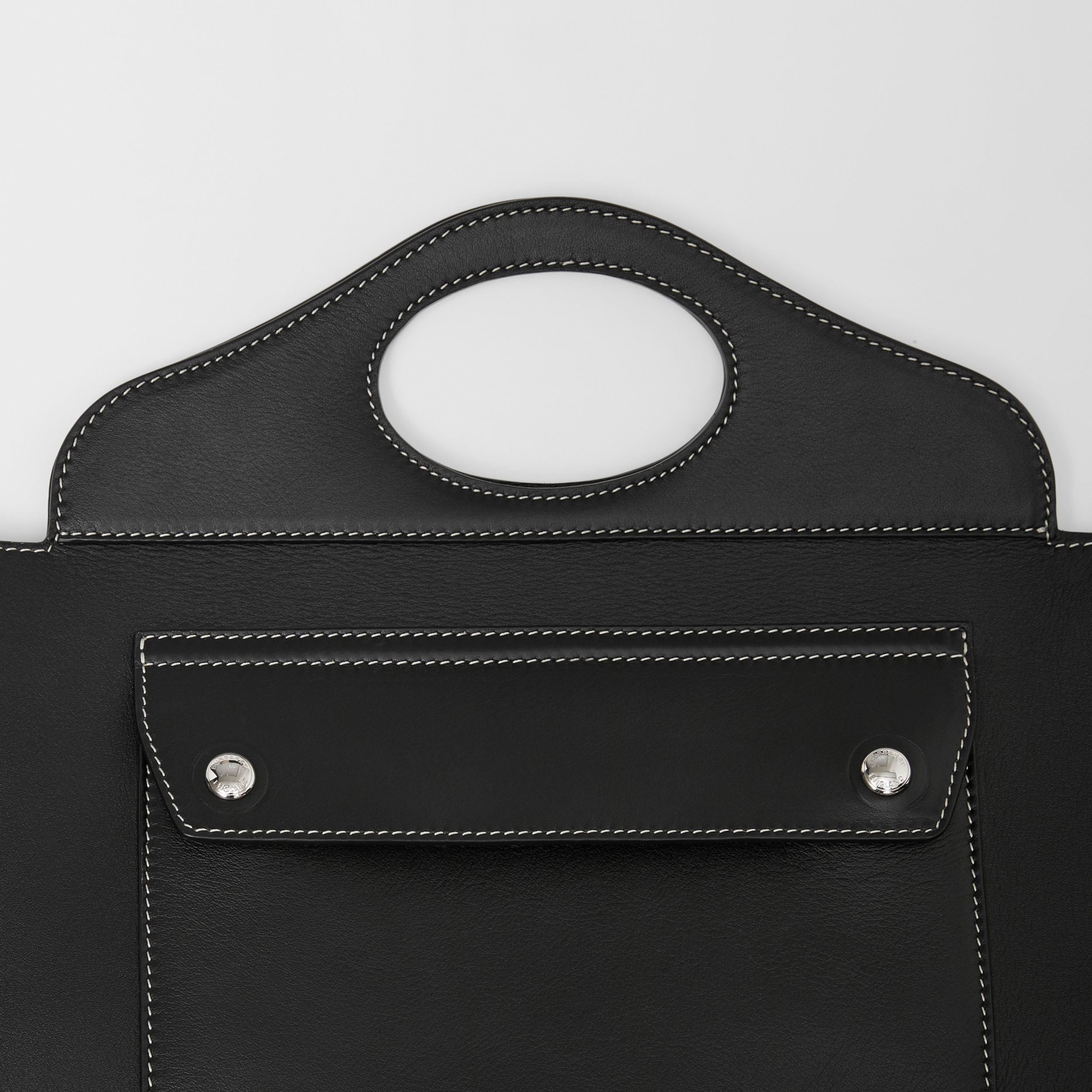 Mini Leather Soft Pocket Tote in Black - Women | Burberry - 2