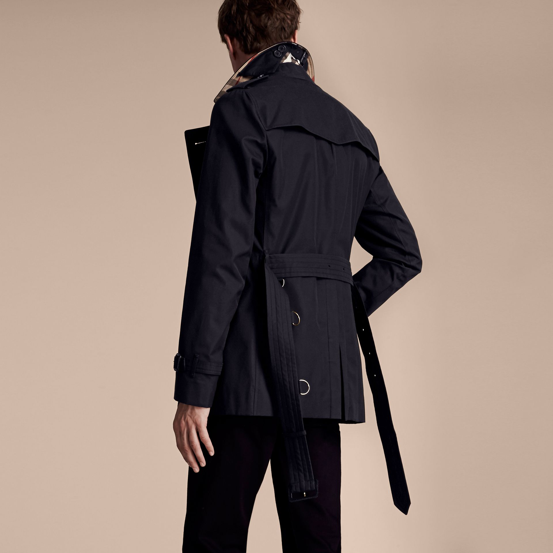 Navy The Sandringham – Short Heritage Trench Coat Navy - gallery image 3