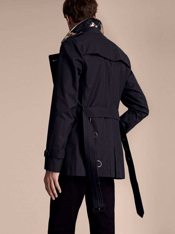 Navy The Sandringham – Short Heritage Trench Coat Navy - cell image 2
