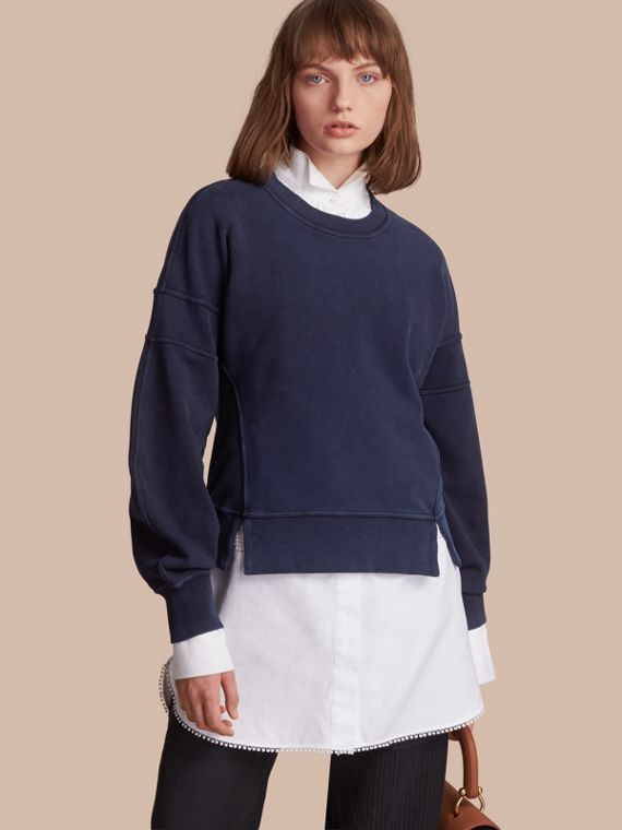 Puff-sleeve Cotton Jersey Sweatshirt