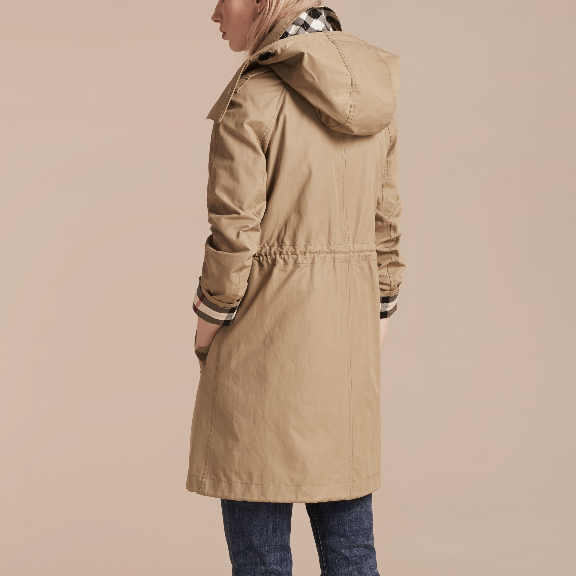 Canvas Hooded Cotton Blend Parka with Detachable Warmer Canvas - gallery image 3